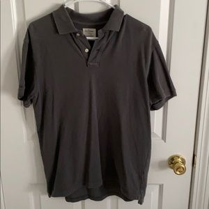 Charcoal J Crew short sleeve polo